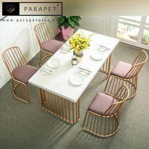 میز و صندلی ناهارخوری استیل مدل سلن Selene