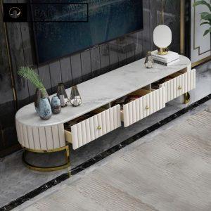 میز تلوزیون استیل طلایی - نقره ای کالانی Kalani