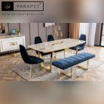 میز و صندلی نهارخوری استیل مدل اوپال Opal