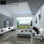 طراحی داخلی مدرن اشپزخانه و پذیرایی