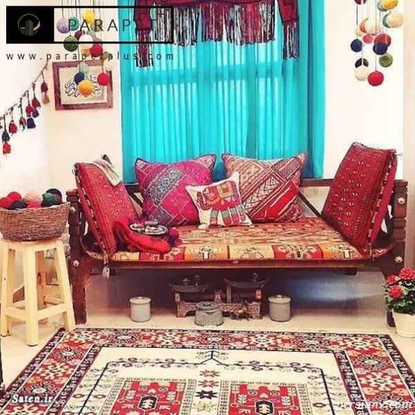 دکوراسیون سنتی ایرانی با کرسی و میز