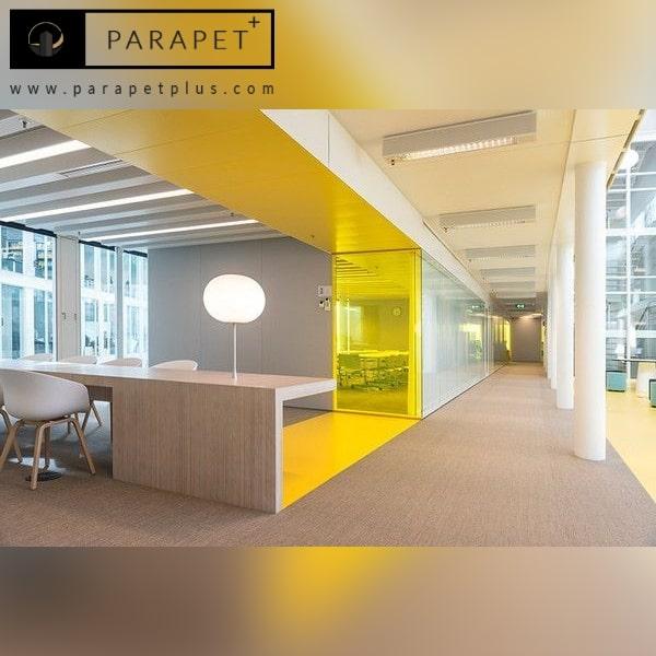 رنگ زرد برای دکوراسیون داخلی دفتر کار