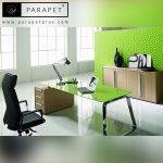 رنگ سبز در دفتر کار